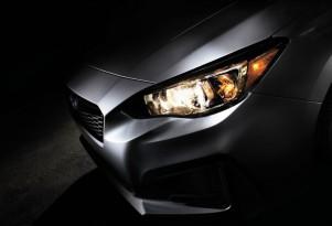 Teaser for 2017 Subaru Impreza debuting at 2016 New York Auto Show