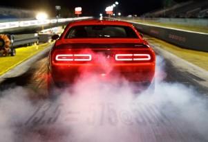 Teaser for 2018 Dodge Challenger SRT Demon debuting at 2017 New York auto show
