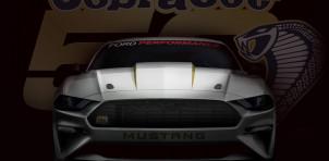 Teaser for 2018 Ford Mustang Cobra Jet drag race car