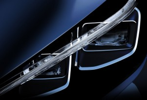 2018 Nissan Leaf electric car: first teaser photo (headlights!) emerges