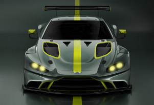 Teaser for 2019 Aston Martin Vantage GT3 race car