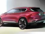 Teaser for 2019 Hyundai Santa Fe debuting at 2018 Geneva auto show