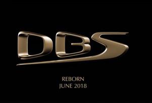 Teaser for Aston Martin DBS Superleggera debuting in June 2018