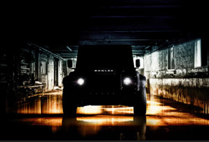 Teaser for Bowler's V-8-powered Land Rover Defender