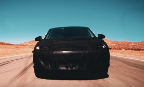 Teaser for Faraday Future electric car debuting at 2017 Consumer Electronics Show
