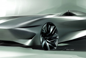Teaser for Infiniti Prototype 10 concept debuting on August 23, 2018