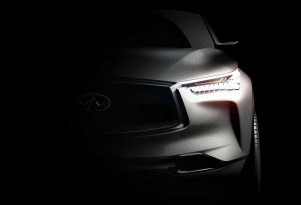 Teaser for Infiniti QX Sport Inspiration concept debuting at 2016 Beijing Auto Show