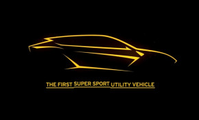 Teaser for Lamborghini Urus SUV debuting on December 4, 2017