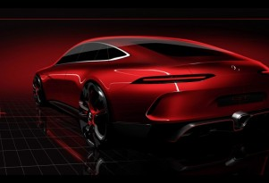 Teaser for Mercedes-AMG GT concept debuting at 2017 Geneva auto show