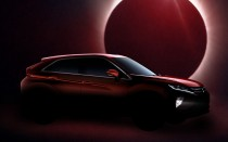 Teaser for Mitsubishi Eclipse Cross debuting at 2017 Geneva auto show