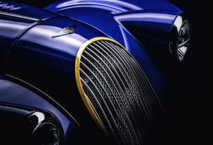 Teaser for 2018 Morgan Plus 8 50th Anniversary Edition debuting at 2018 Geneva auto show