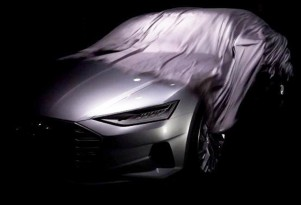 Teaser for new Audi design concept debuting at the 2014 Los Angeles Auto Show