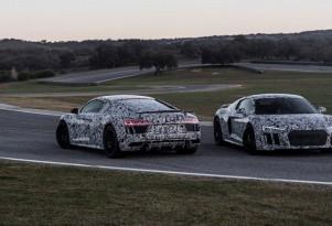 Teaser for new Audi R8 debuting at 2015 Geneva Motor Show
