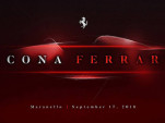Teaser for new Ferrari debuting on September 17, 2018