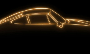 Teaser for Porsche Project Gold restomod debuting August 24, 2018
