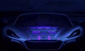 Teaser for Rimac supercar debuting at 2018 Geneva auto show