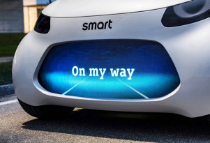 Teaser for Smart concept car debuting at 2017 Frankfurt auto show