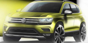 Teaser for U.S.-bound Volkswagen compact SUV