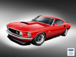 Teaser sketch for Classic Recreations 1969-1970 Ford Mustang Boss 429