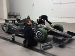 Technicians prep the DW12 at Windshear - INDYCAR photo