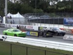 Tesla Model S drag-races 2015 Dodge Challenger Palm Beach Intl Raceway, Hellcat, Jan 2014  [YouTube]