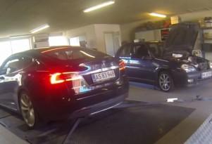 Tesla Model S P85D breaks the dyno