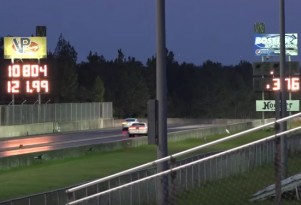 Tesla Model S P90D runs 10s at the drag strip