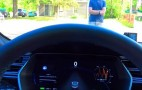 Human guinea pig employed in amateur Tesla Model S testing