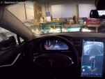 Tesla Model S Version 7.1 software Summon automatic parking feature - from YouTube video by Ricco831