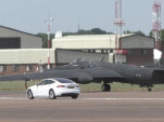 Tesla Model S U-2 spy plane chase car