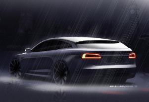 RemetzCar Tesla Model S shooting brake design sketch