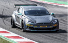 Tesla Model S Electric GT car ready to race