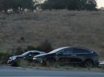 Tesla Model X prototype photographed near Tesla Motors headquarters, Palo Alto, CA, in July 2015