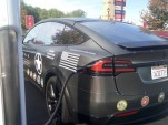 Tesla Model X veterans recruitment vehicle  [photo: George Parrott]