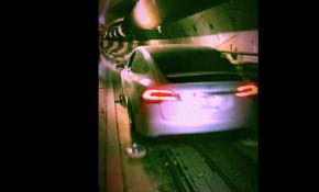Tesla Model X in Boring Company tunnel