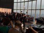 Tesla Motors CEO Elon Musk delivers first Tesla Model S electric cars in Tokyo, Sept 2014