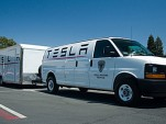 Tesla Rangers service van