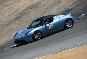 Tesla Roadster #16 on track at ReFuel EV races