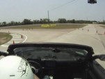 Tesla Roadster on an autocross course