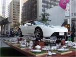 Tesla Roadster on teacups at William Ashley in Toronto