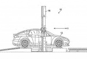 Tesla mobile battery swapping rig patent