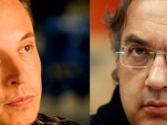 Tesla's Elon Musk and Chrysler/Fiat's Sergio Marchionne