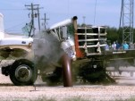 Texas A&M Transportation Institute barrier stops truck violently