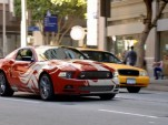 The 2013 Ford Mustang, wearing custom vinyl graphics