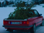 The BMW E30 M3 pickup truck is not an ideal Christmas tree hauler