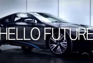 The BMW i8 says 'Hello Future'