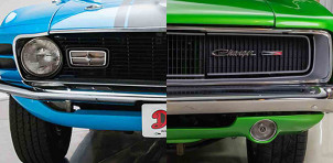 The Ford Mustang (left) and Dodge Charger tied in a ClassicCars.com state-by-state comparison