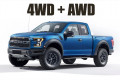 The Ford Raptor has AWD and 4WD