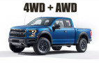 Yes, the Ford Raptor has both 4WD and AWD