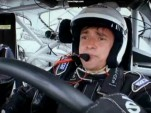 The Hamster at the wheel of a NASCAR race car